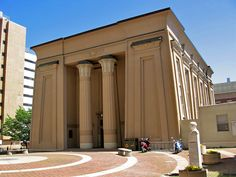 Chapter 9. Egyptian Building, Medical College of Virginia in Richmond Virginia designed by Thomas Stewart. Part of the Egyptian Revival.