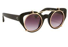 """Clip-On"" Cat Eye Sunglasses"