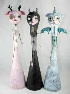 Monster masks by Michele Lynch