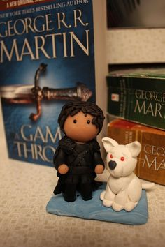 "Jon Snow and Ghost - 3"" Figurine / Ornament"