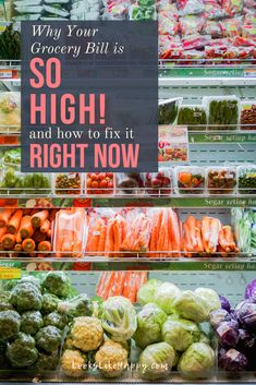 Why Your Grocery Bill is So High and How to Fix it Right Now! - if your grocery bill is out of control, this is for you!   #grocery #budget