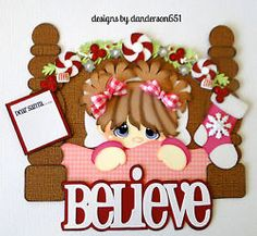listed on Christmas, Girl, Santa, Believe, Paper Piecing… Christmas Clipart, Christmas Ornaments, Christmas Trees, Scrapbook Titles, Christmas Scrapbook, Scrapbook Embellishments, Paper Piecing, Scrapbooks, Paper Art
