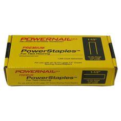 POWERNAIL PowerStaples 1-1/2 in. Leg x 1/2 in. Crown x 15-1/2-Gauge Steel Hardwood Flooring Staples (1,000-Pack)-PS15015 - The Home Depot