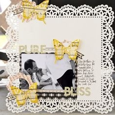 pretty black yellow white page. nice for a black and white photo