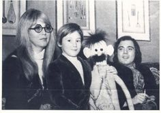 Cynthia Lennon and Roberto Bassanini with Julian Lennon