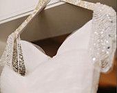 Personalized gold and ivory floral bridesmaid hanger/ wooden wedding hanger/ shabby chic bride