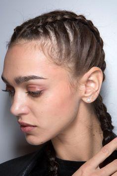 #emporio armani #ss 17 #pfw #makeup #hair #beauty #backstage