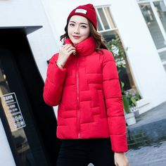 23.99$  Buy here - http://aliqip.shopchina.info/1/go.php?t=32814420214 - ALMUERK Women New Winter Solid Color Cotton Coat Long Sleeve Zipper Thin Warm Parkas Hot Sale Ladies Fashion Style Coat  23.99$ #aliexpressideas
