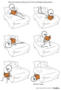 This is me, almost every night.