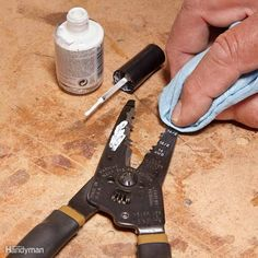 Stamped-in tool markings can be tough to read. To solve this, buy some white fingernail polish, brush it on the tool and quickly wipe it with a clean cloth. The white polish stays in the grooves, and the numbers are easy to read at a glance. You can use lacquer thinner to wipe it if the polish dries too quickly.
