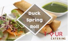 Duck-spring-rolls | @tourcateringnyc.com