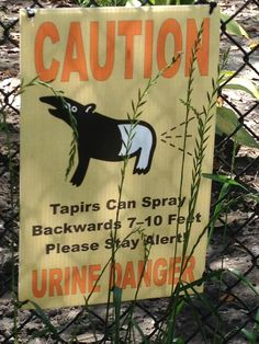 Warning sign at a zoo