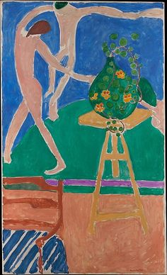 "Painting by Henri Matisse Nasturtiums with the Painting ""Dance"" I, Oil on canvas. © 2016 Succession H. Matisse / Artists Rights Society (ARS), NY Modern Art, Art Prints, Post Impressionism, Art Painting, Matisse Paintings, Metropolitan Museum Of Art, Painting, Museum Of Modern Art, Art History"