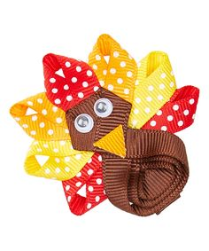 This Simply2Cute Turkey Hair Clip by Simply2Cute is perfect! #zulilyfinds