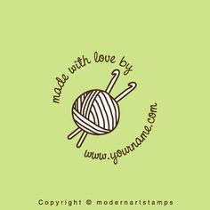 Custom Rubber Stamp - Personalized Stamp - Custom Stamp - Made with Love, Crochet, Knit, Yarn, Sew - C409. $10.00, via Etsy.