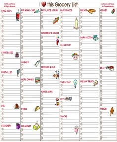 Blank Shopping List Printable Template  Blank Grocery List