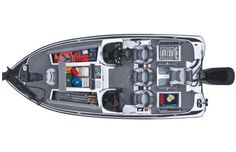 Nitro Z-7: A bird's eye view of the Z-7 showing all the storage options reveals the boat's capabilities in terms of securing fishing gear.