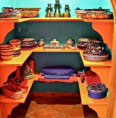 China closet in dining room.