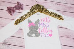 Baby Girl's Little Miss Cotton Tail Easter by MamaAndBabyBears