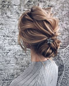 Textured updo hairstyle, messy updo hairstyles ,chignon , messy updo hairstyles updo #hairstyles #updo