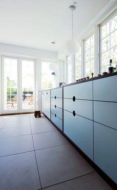 Originalt CPH Square køkken med blå fronte