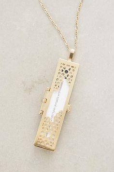 Honeycomb Fortune Locket Necklace - anthropologie.com