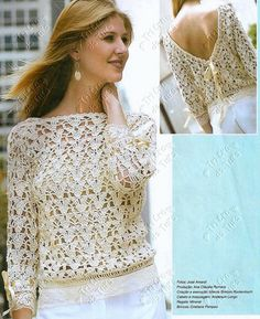 Nice top!! I love this stitch! Free pattern in Spanish with diagrams!