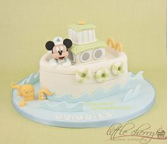 Sailor Mickey Tugboat Cake