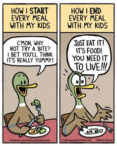 Family Dinner – Fowl Language Comics