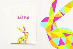 make a geometric easter card