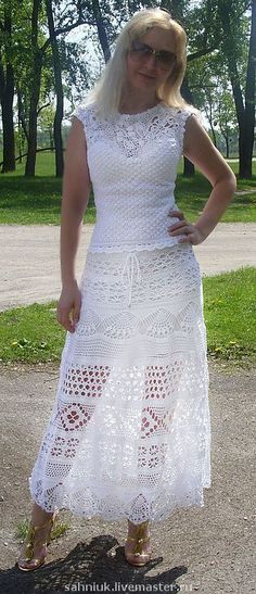 Knee length crochet skirt PATTERN, instructions for every row, sexy crochet…