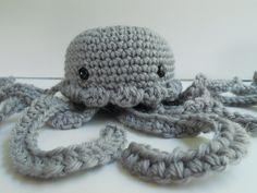 Amigurumi Crochet Pearl Grey Jellyfish Plush. $22.00, via Etsy.