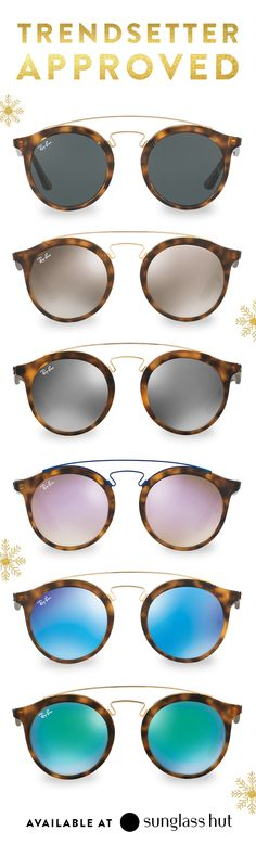You've seen them on bloggers and celebs, and now Ray-Ban double bridge sunglasses make the perfect holiday gift for those who stay ahead of the curve. Gender neutral, double bridge frames are available in a variety of colored lenses, making them a gift you can customize for the most stylish people on your holiday shopping list.