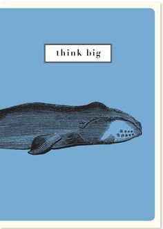 "Whale Notebook ""Think Big"""
