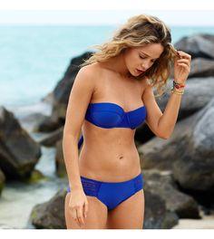 Poet Blue Aerie Holly Bikini Top. We're beach bound! Need a lift? #Aerie