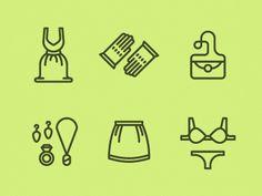 Women's Garments Icons  by Tim Boelaars