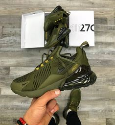 Nike air max 270 olive green and khaki - Shoes 01 Cute Sneakers, Sneakers Mode, Sneakers Fashion, Shoes Sneakers, Nike Air Max, Nike Air Shoes, Nike Heels, Crazy Shoes, Nike Clothes