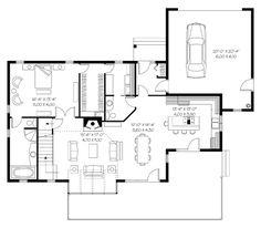Coastal Contemporary Craftsman House Plan 65470 Level One