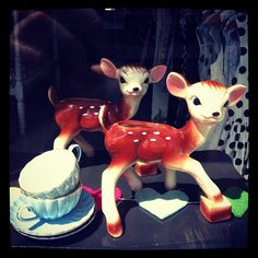 deer planter and t2 teacups