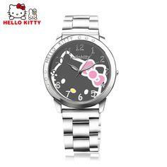 Hot Sale Fashion Full Steel Hello Kitty Watch Women Watches Cute Cartoon Watch Ladies Quartz Watch Girl Hour reloj mujer