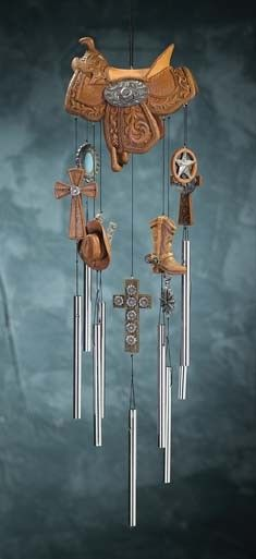 Western Saddle Wind Chime