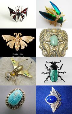 Buggin' Out! An Ode to the Jewelled Bugs of VJSE Group Team; vintage bug jewelry