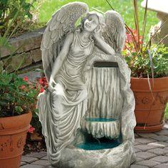 Design Toscano Resin Resting Grace Angel Garden Fountain