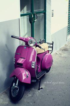 Purple Vespa...Someday it will be mine!!