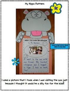 Hip-Hip Hippo-Ray for {grade level} grade! Printable worksheets on the website for making this cute activity