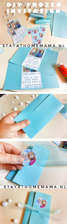 DIY Frozen Invitation By Stay At Home Mama