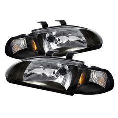 $87 - pair of Spyder Crystal Headlights - Black (1 piece)