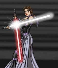 Hehe, Star Wars/Disney Crossover ;P  Darth Disney Princess ~ Dual-Wielding Belle :)
