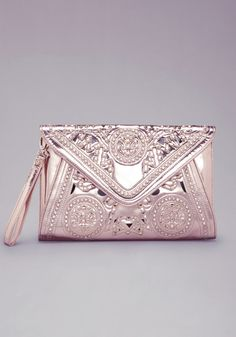 bebe rose gold clutch - Google Search
