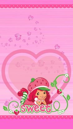Iphone 6 Wallpaper, Wallpaper Backgrounds, Colorful Wallpaper, Cool Wallpaper, Strawberry Shortcake Pictures, Pretty Backgrounds, Character Wallpaper, Hello Kitty Wallpaper, Borders For Paper